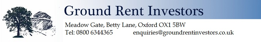Ground Rent Investors Limited. Meadow Gate, Betty Lane, Oxford OX1 5BW. Telephone 0800 63 44 365